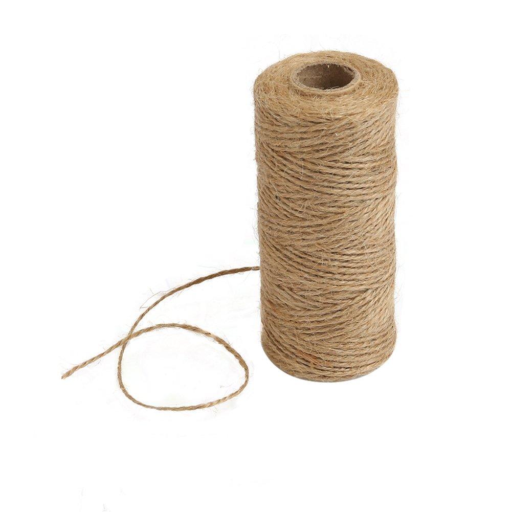 jardiner/ía Tenn Well Cinta de arpillera de yute de 8 mm para envolver regalos marr/ón manualidades bricolaje y decoraci/ón r/ústica