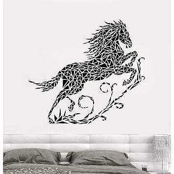 Vinilo abstracto Tatuajes de pared Dormitorio Correr Caballo PVC ...