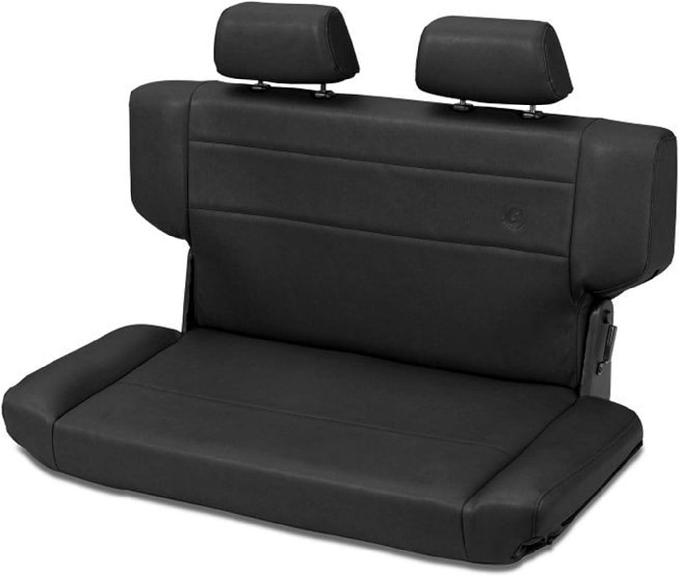 Bestop 3943501 Trailmax II Rear Fold-N-Tumble Black Crush Rear Seat - Jeep 1997-2006 Wrangler