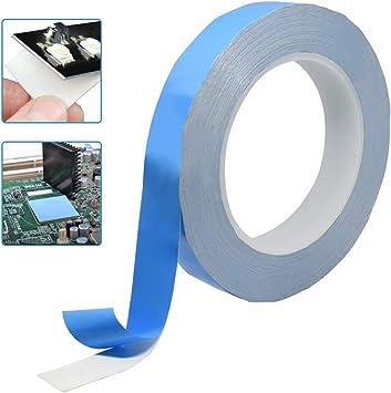 KBNIAN Cinta adhesiva térmica de doble cara Cinta aislante eléctrica de fibra de vidrio Delgado Resistente a altas temperaturas Disipador de calor Autoadhesivo para UPC LED RAM DDR SSD tarjeta madre: Amazon.es: