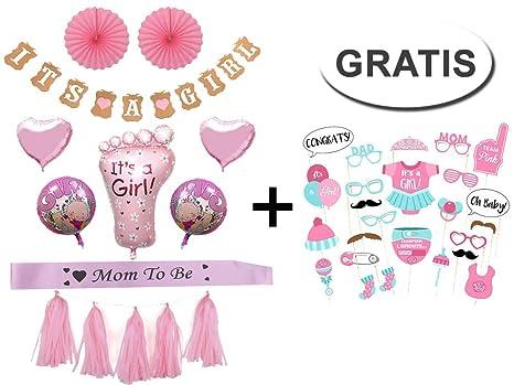 Baby Shower Party Decoracion Set Girl Nina Amazon Es Juguetes Y Juegos