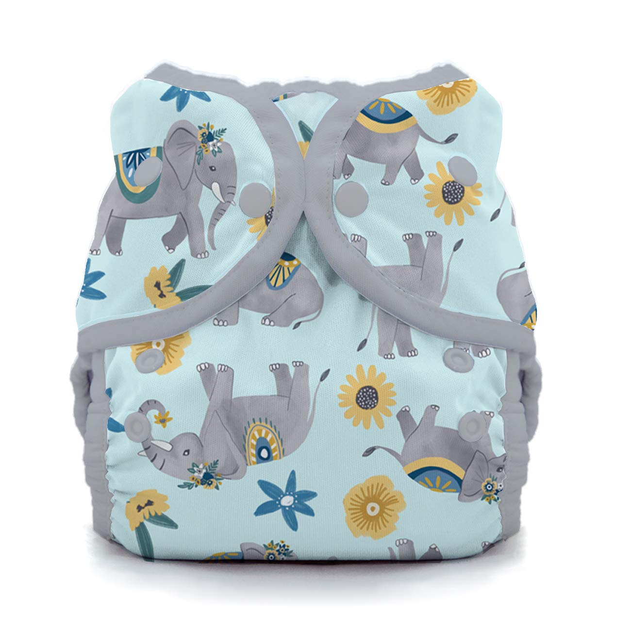 Thirsties Duo Wrap Cloth Diaper Cover Snap Closure Happy Camper Size Two 18-40 lbs