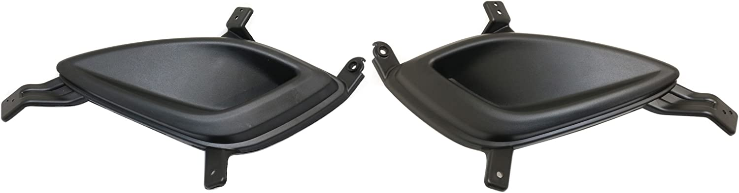 DAT AUTO PARTS Fog Hole Cover Set of Two Replacement for 11-13 Hyundai Elantra USA Built Sedan 4DR Models Black Left Driver Right Passenger Side Pair HY1038112 HY1039112