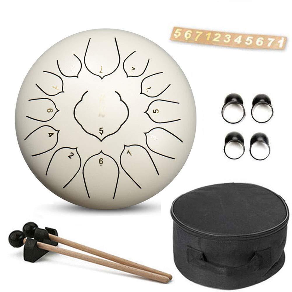 12 Inch Steel Tongue Drum Handpan Drum Hand Drum13tones Percussion Instrument with Drum Mallets Carry Bag Note Sticks for Meditation Yoga Zazen Sound Healing,D by YRXX