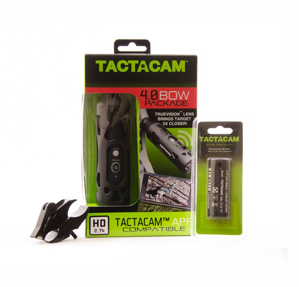 Tactacam Ultimate 4.0 Bow Combo Pack w/Stabilizer & Gun Mount & Extra Battery