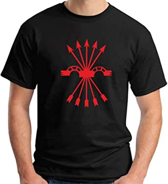 T-Shirt Hombre Negro TM0289 falange Spagna: Amazon.es: Ropa