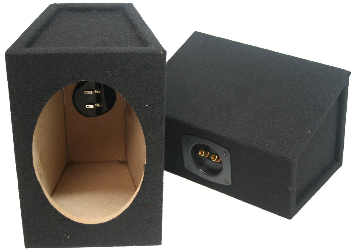 Car Audio Custom 6'' X 9'' Sealed Hi Quality Pair Speaker Enclosure Unloaded Box by American Sound Connection