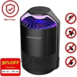 KEYNICE Nontoxic Mosquito Killer USB Power Mosquito Trap for Indoor Outdoor Home/Office Use Anti-Mosquito Insect Fly Inhaler Led Lamp Flying Catcher - Black