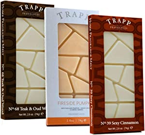 Trapp Home Fragrance Wax Melts, 2.6oz Fall Favorite Scents Variety, Set of 3