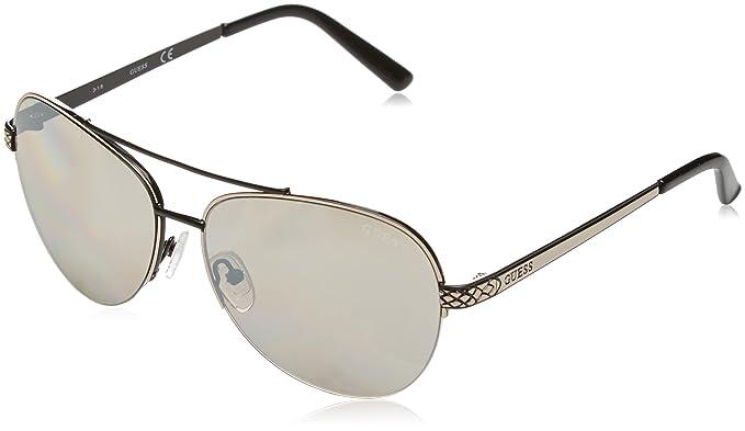 Womens GF6008_05C Sunglasses, Grey (Grigio/Nero), 58 Guess