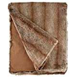 Fabulous Furs: Faux Fur Luxury Throw Blanket, Coyote, Available in generous sizes 60''x60'', 60''x72'' and 60''x86'', by Donna Salyers