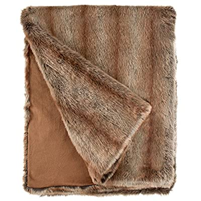 "Fabulous Furs: Faux Fur Luxury Throw Blanket, Coyote, Available in generous sizes 60""x60"", 60""x72"" and 60""x86"", by Donna Salyers - This versatile Coyote is stunning over the back of a masculine sofa, but equally lovely on a bed 100% acrylic lined in cozy soft tonal velvet Ships in a reusable and resealable designer carry bag - blankets-throws, bedroom-sheets-comforters, bedroom - 61zXqNCB9ML. SS400  -"