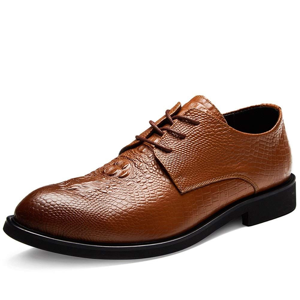 JUN Mens Slip On Buckle Oxford Shoes Comfortable Classic Formal Business Shoes Slip On Driving Shoes Casual Walking Shoes (Color : Brown, Size : 10.5 M US) by JUN
