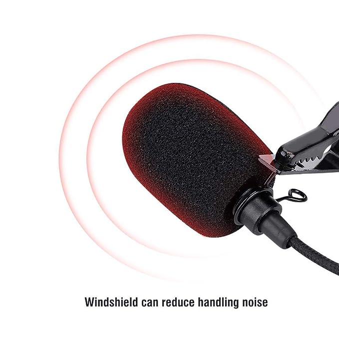 omnidirektionales Kondensatormikrofon f/ür SJCAM SJ6 SJ7 SJ360. Mugast Professionelles Lavalier Revers Mikrofon 360 /° Dound Collecting