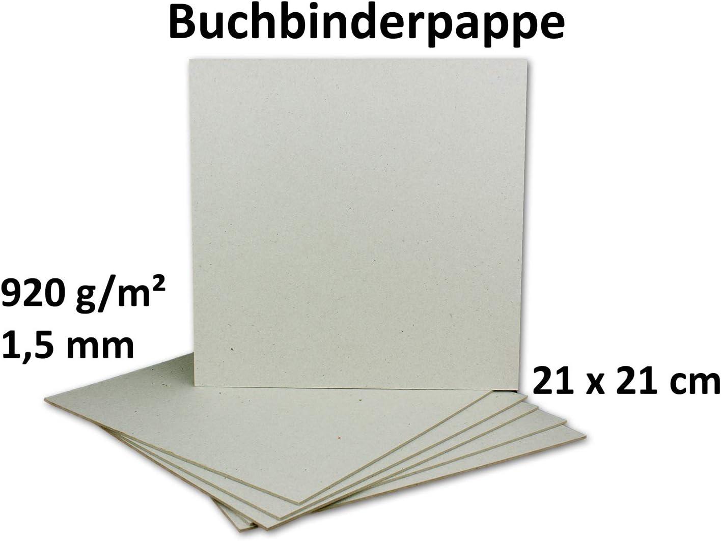 St/ärke 1,5 mm Grammatur 1.015 g//m/² 30x Buchbinderpappe DIN A4 in Schwarz