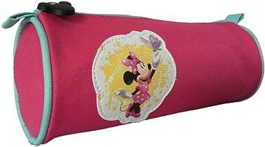 Estuche redondo, diseño de Minnie, color rosa: Amazon.es: Ropa y accesorios