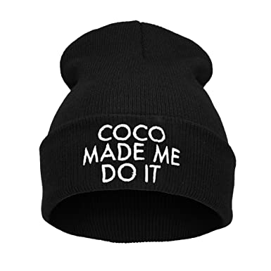 Men s Women s Beanie Hat Winter Warm Black Bad Hair Day Cocaine Caviar Wasted  Youth YOLO Parental Advisory Homies Normal Is Boring HAKUNA MATATA (ONE  SIZE ... 896115f4080