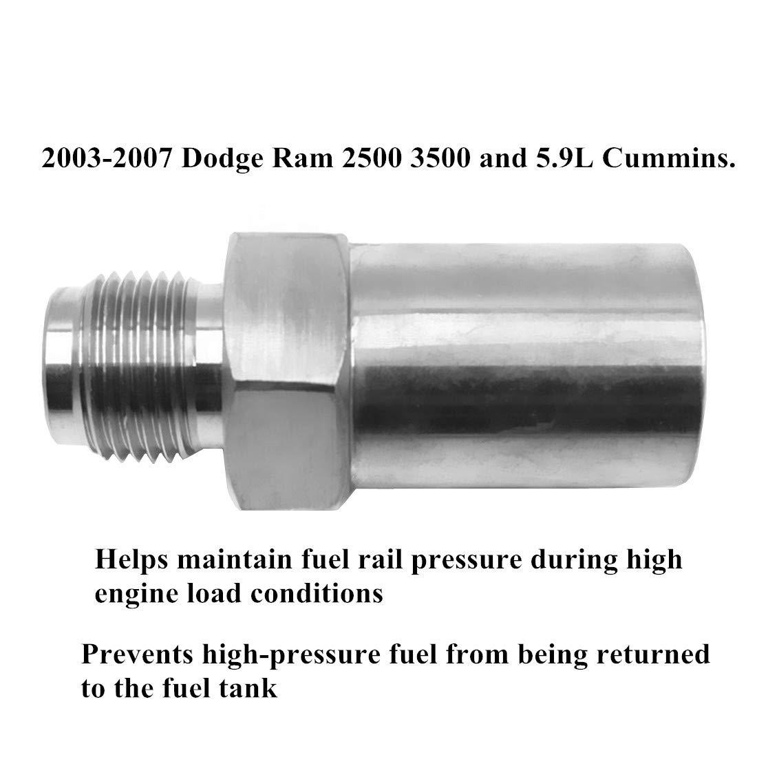 1050070 for 2003-2007 Dodge Ram 2500 3500 5.9L Cummins DEF Fuel Injector Common Rail Fuel Plug
