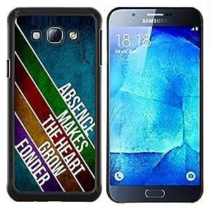 - DESIGN MODERN ABSENCE MESSAGE LINES HEART LOVE - Caja del tel¨¦fono delgado Guardia Armor- For Samsung Galaxy A8 A8000 Devil Case