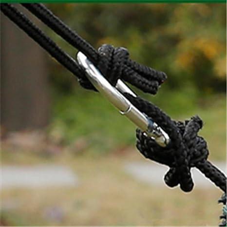 GREEN HOME 1 1PC Hamaca para acampar con mosquitero ligero Hamaca de nylon paracaídas portátil Acampar al aire libre mosquitera de nylon de alta resistencia ...