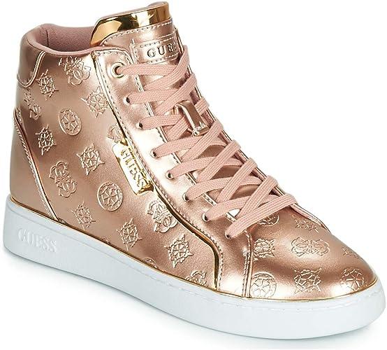 Guess Brina Sneakers Femmes RosaOro Sneakers Alte: Amazon