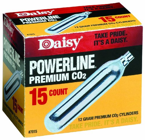 - Daisy Outdoor Products 15 ct. CO2 (Silver, 12 gm)