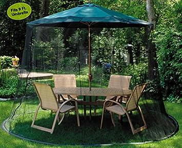 LB International Mesh Mosquito Net Enclosure – Fits over a 9 Patio Umbrella
