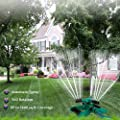Lawn Sprinkler, Automatic 360 Rotating Adjustable Sprinklers for Garden, Durable 3-Arm Rotary Sprinkler, Save Water and Save Time (Butterfly)