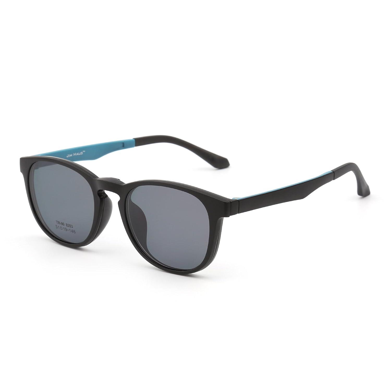 Jim Halo Gafas de Sol Retro Redondo Polarizadas Magnético Clip en Anteojos Marco Hombre Mujer
