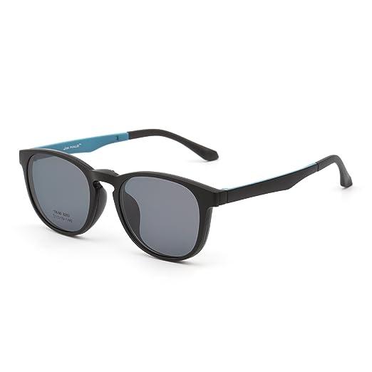 JIM HALO Gafas de Sol Retro Redondo Polarizadas Magnético Clip en Anteojos Marco Hombre Mujer(Negro Mate/Gris): Amazon.es: Ropa y accesorios