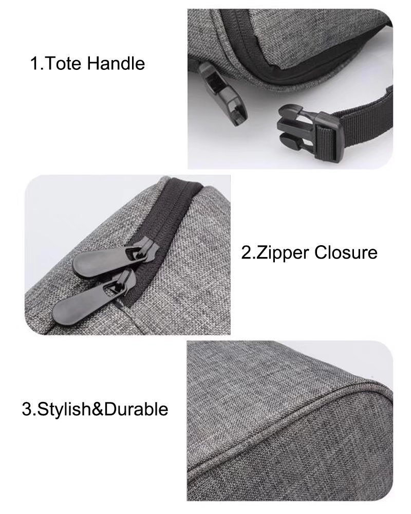 Lightweight Tote Insulated Cooler Bag Freezable Baby Bottle Bag with Zipper Closure Oneyongs