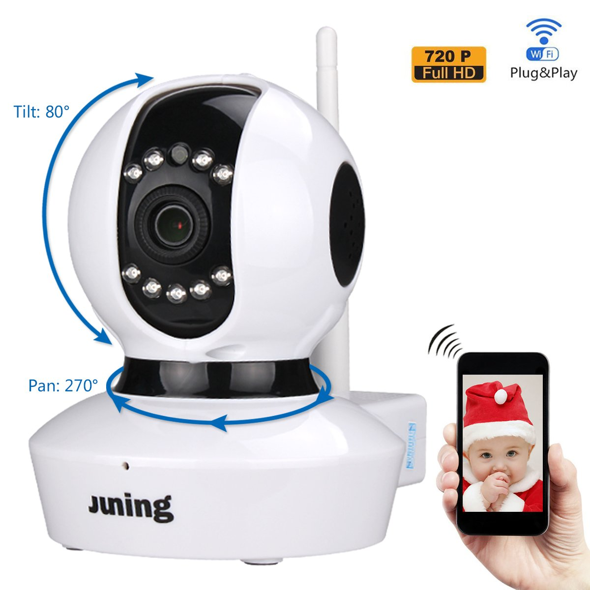 Home Wifi Wireless Security Cameras 720P Hd (Day/Night Visionbaby Monitor2 Wa.. 16