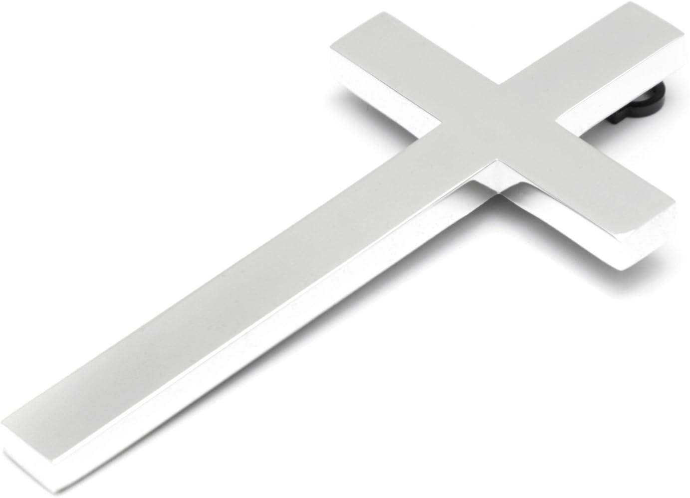 stile moderno in metallo argento Crocifisso da parete placcato in argento con incisione personalizzabile Wandkreuz colore: argento grande Metallo BRILLIBRUM/® Mit Gravur b crocifisso per la camera dei bambini a forma di croce di Ges/ù
