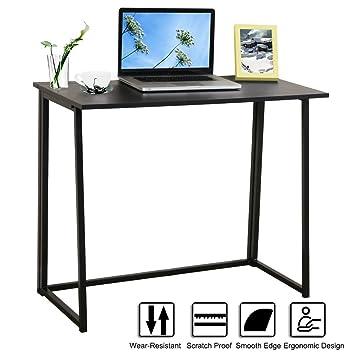 De madera plegable para ordenador, lasuavy oficina escritorio ordenador estación de trabajo/mesa plegable