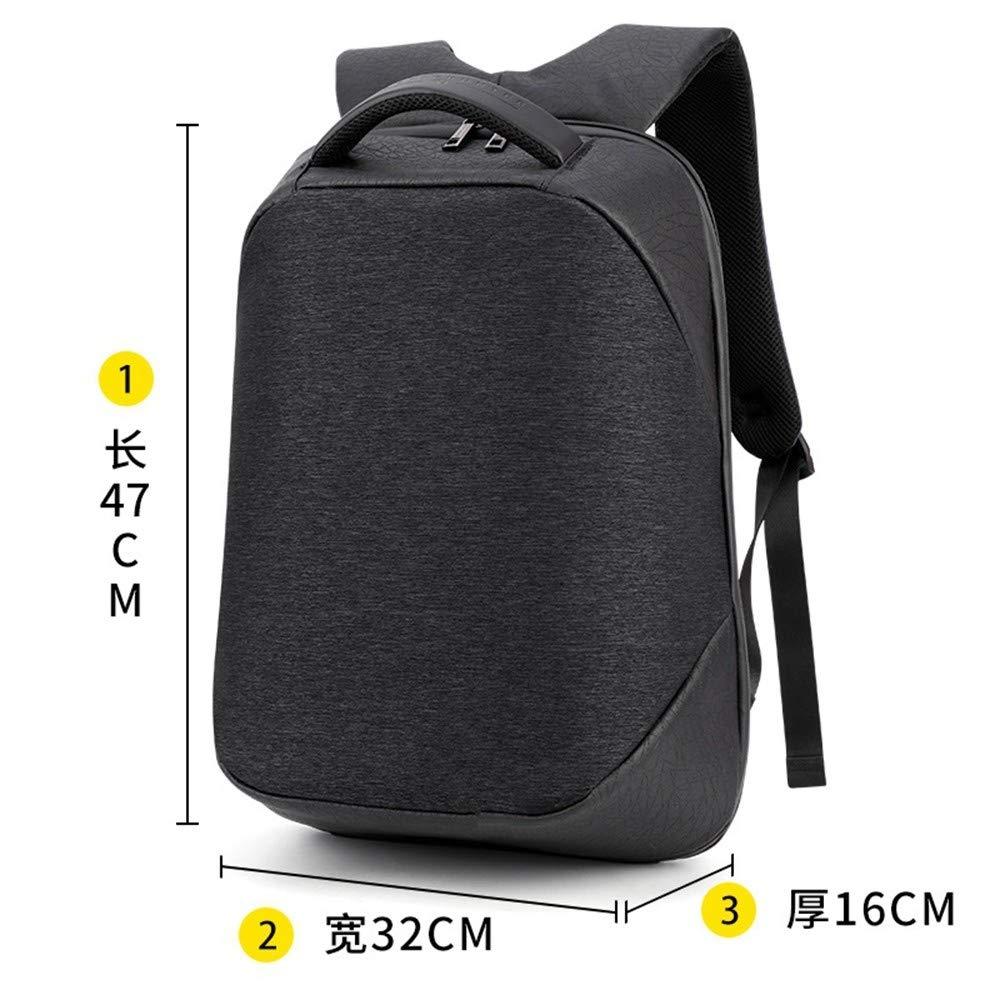 TDPYT Outdoor-Reise-Umhängetasche/Geschäft Männlichen Tasche USB-Multifunktions-Anti-Diebstahl-Computer 18 Zoll Schwarz