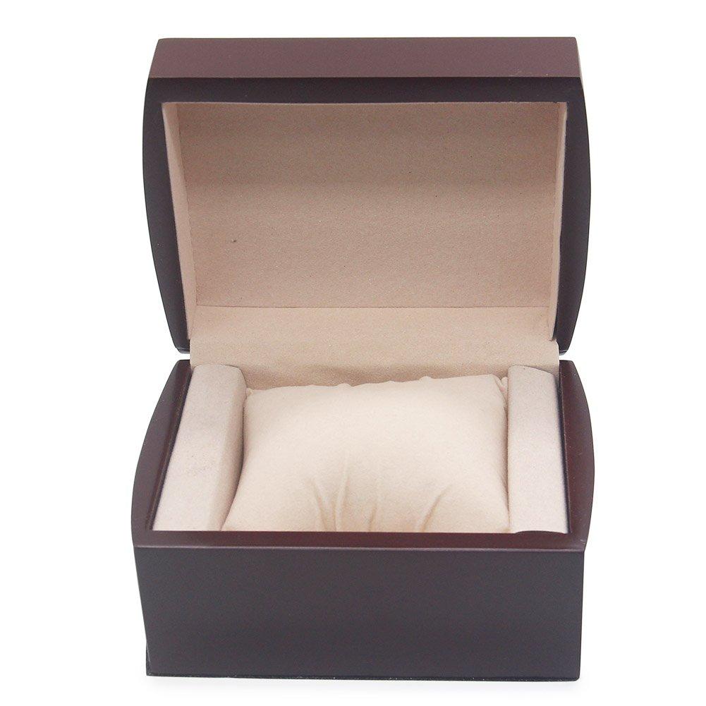 AVESON Luxury Watch Box Holder Organizer, Premium Wooden Jewelry Bracelet Storage Gift Case Single Grid by AVESON (Image #4)