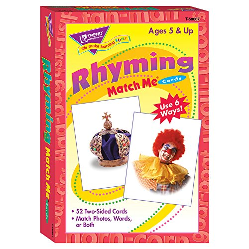 Match Game Rhymes - TREND enterprises, Inc. T-58007BN Rhyming Words Match Me Cards, 6 Sets
