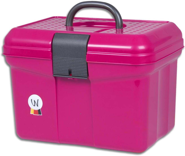 Amesbichler Putz Box Caja para pulir Limpieza maletín con Mango, se Puede Cerrar, Divisor Ajustable Grooming Caja Rosa
