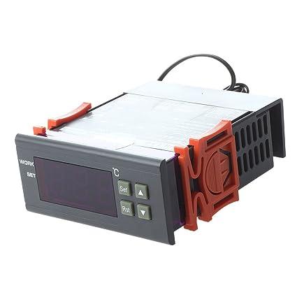 Termostato - SODIAL(R)LCD pantalla 220V Termostato digital Controlador de temperatura Termostato para