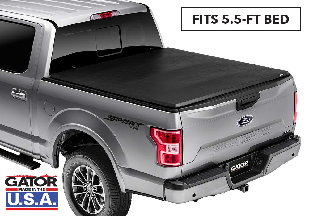 Gator ETX Soft Tri-Fold Truck Bed Tonneau Cover | 59312 | fits Ford F-150 2015-19 (5 1/2 ft bed)