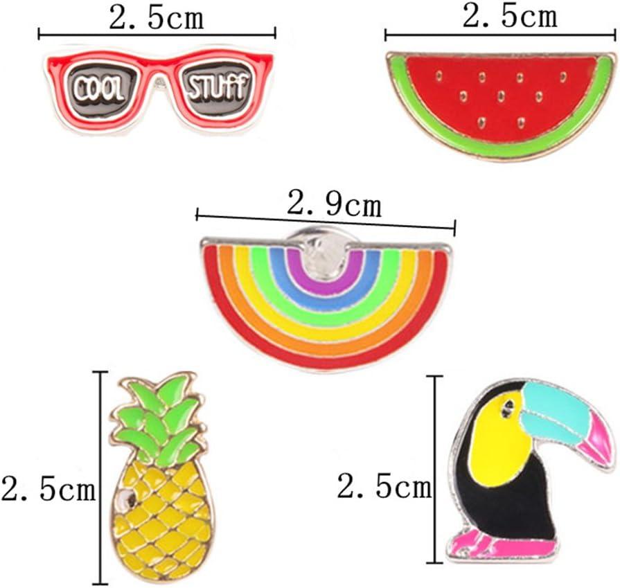 Fansi 1/Pcs Dessin anim/é Rainbow Chute Broche Color/é Alliage Corsage Robe Accessoires pour Femme