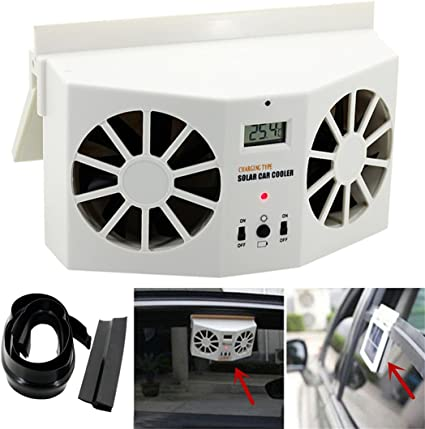 Solar Powered Car Auto Window Air Vent Ventilator Mini Air Conditioner Cool Fan