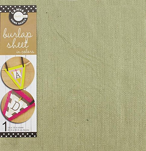 UPC 843094025883, Canvas Unsewn Burlap Sheet Jute, 12-Inch by 12-Inch, Linen