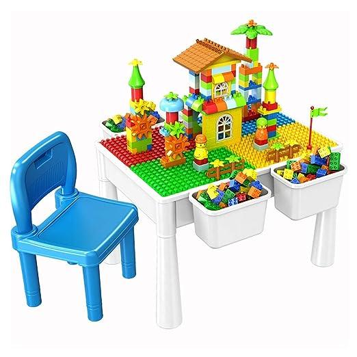 Mesa de Juego Mesa De Construcción Multifuncional Niños Reuniendo ...