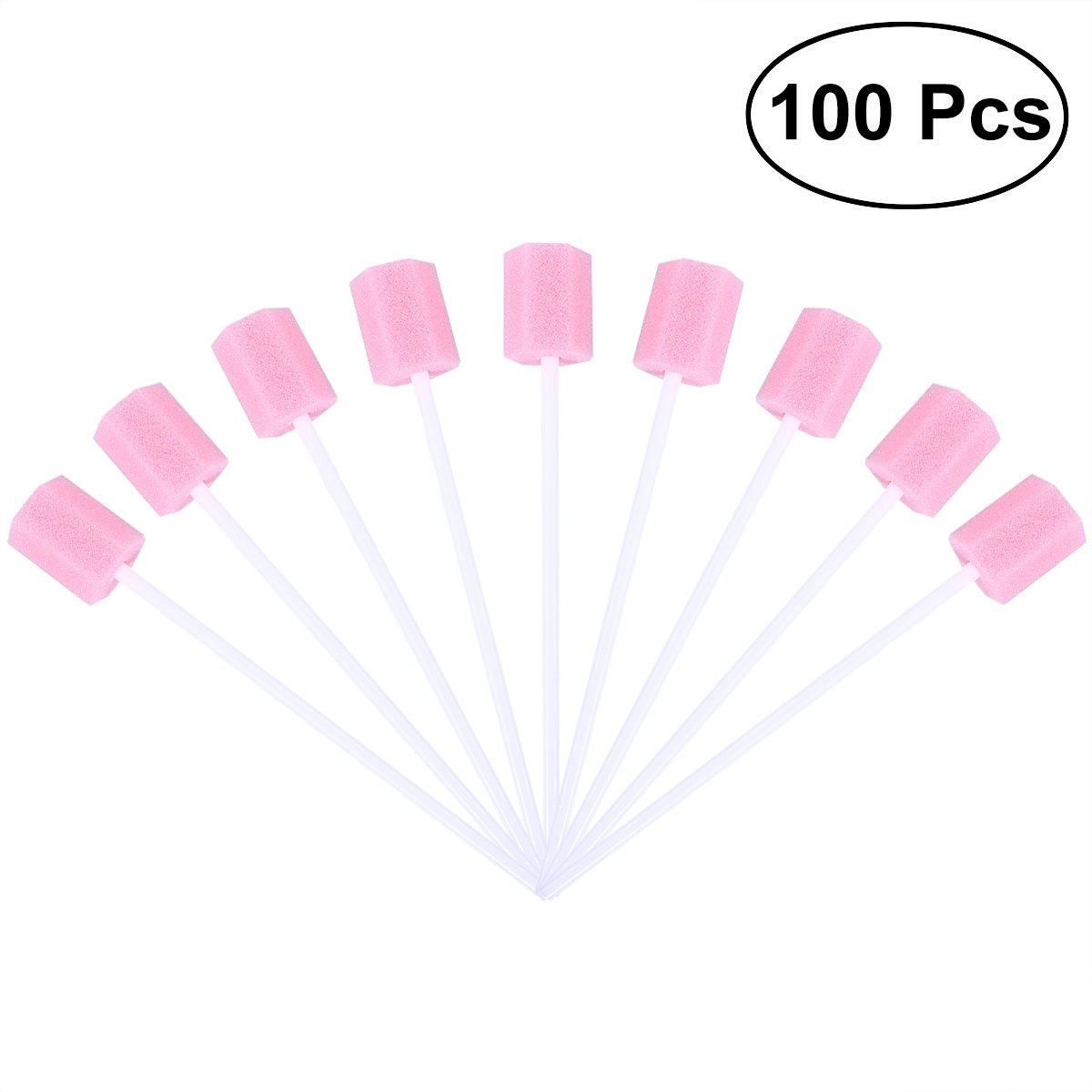 Oral Swabs ROSENICE Disposable Sponge Swab for Oral Care Cleaning Use Pack of 100