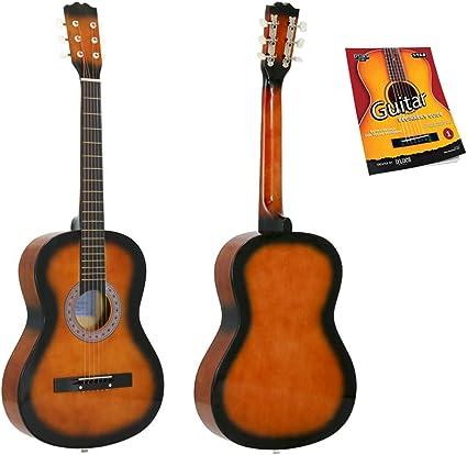 Star Guitarra acústica de 6 cuerdas, 38 pulgadas con guía para ...