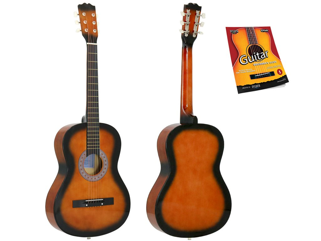 Star Acoustic Guitar 38 Inch with Beginner's Guide, Sunburst