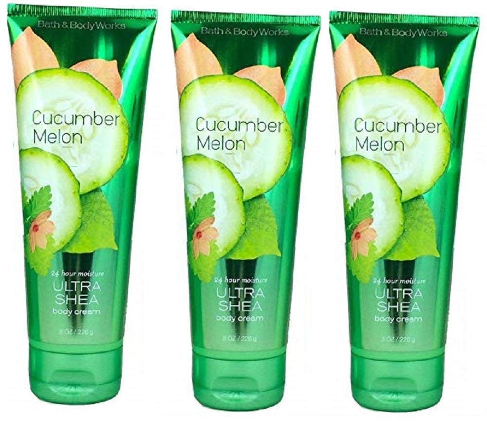 Bath and Body Works Cucumber Melon Triple Moisture Body Cream 3 Pack