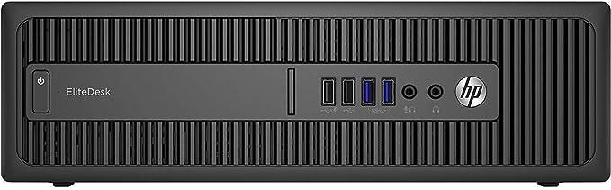 HP EliteDesk 800 G1 - Ordenador de sobremesa (Intel Core i5-4570, 16GB de RAM, Disco SSD de 480GB, Sin lector, Windows 10 Pro ES 64) - Negro (Reacondicionado)