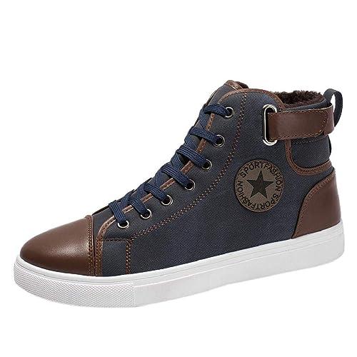 QUICKLYLY Botas para Hombre Calzado De Protección Zapatos Casuales De Además De Botines De Terciopelo De Tacón Alto De Martin: Amazon.es: Zapatos y ...